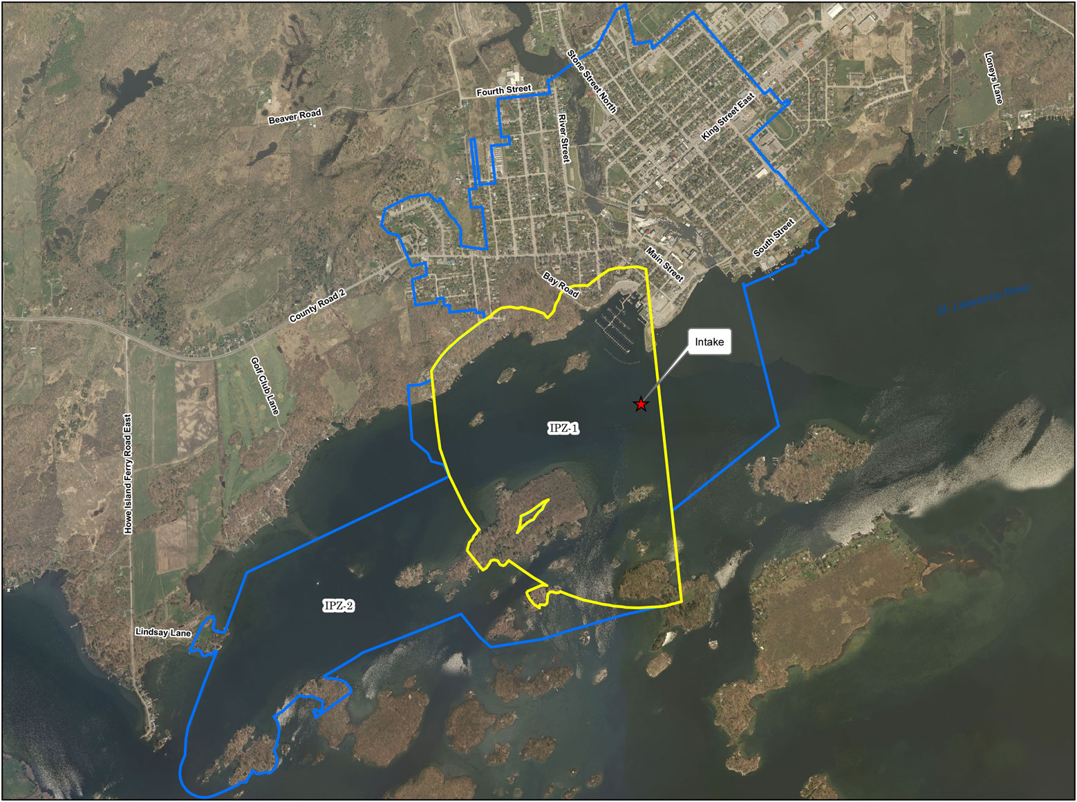 James W King / Gananoque Intake Protection Zone