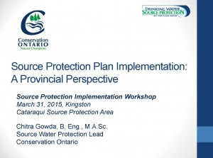 5 Source Protection Plan Implementation - Conservation Ontario