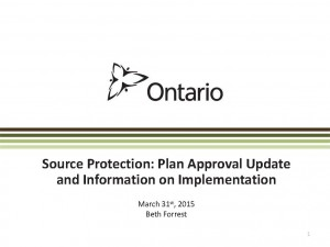 6 Source Protection - Plan Approval Update and Info MOECC