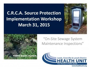 7 On site Sewage System Maintenance - Health Unit