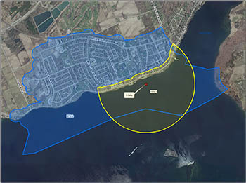 Amherstview (Fairfield) intake protection zone map