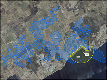 Map of the Bath intake protection zone
