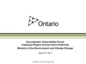 Groundwater Vulnerability Forum - Cover Page