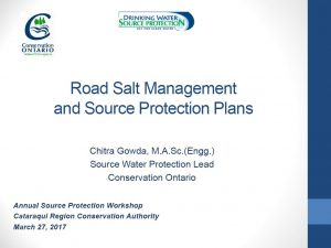 Road Salt Management and Source Protection Plans - Cover page
