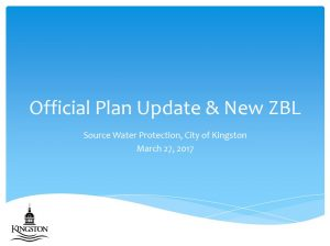 City of Kingston - Official Plan Update & New ZBL - cover page