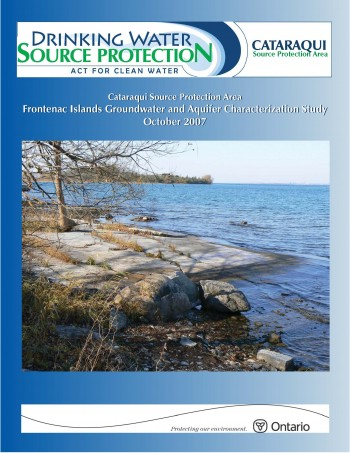 Cover of Frontenac Islands Groundwater Study