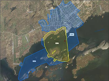 Gananoque (James W King) intake protection zone map