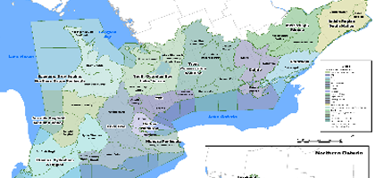 Ontario source protection map