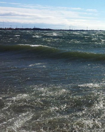 waves on Lake Ontario