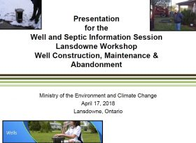 MOECC - Well and Septic Workshop cover page