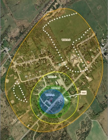 Miller Manor wellhead protection area map