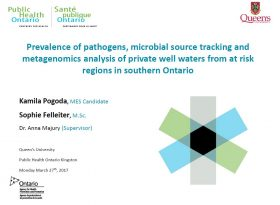 Prevalence of pathogens, microbial source tracking and metagenomic analysis of private well waters from at risk regions in southern ontario