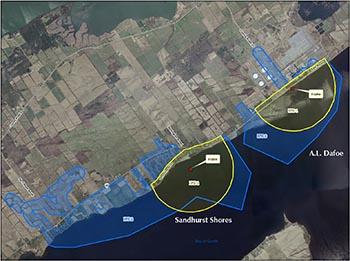 Sandhurst Shores and AL Dafoe intake protection zone map