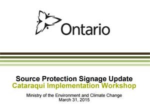 ontario source protection signage update