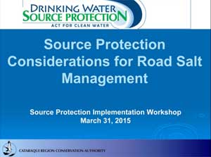 source protection considerations for road salt management